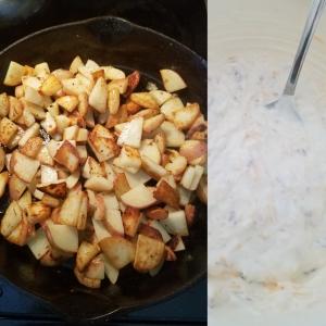 Loaded Baked Potato Salad Steps