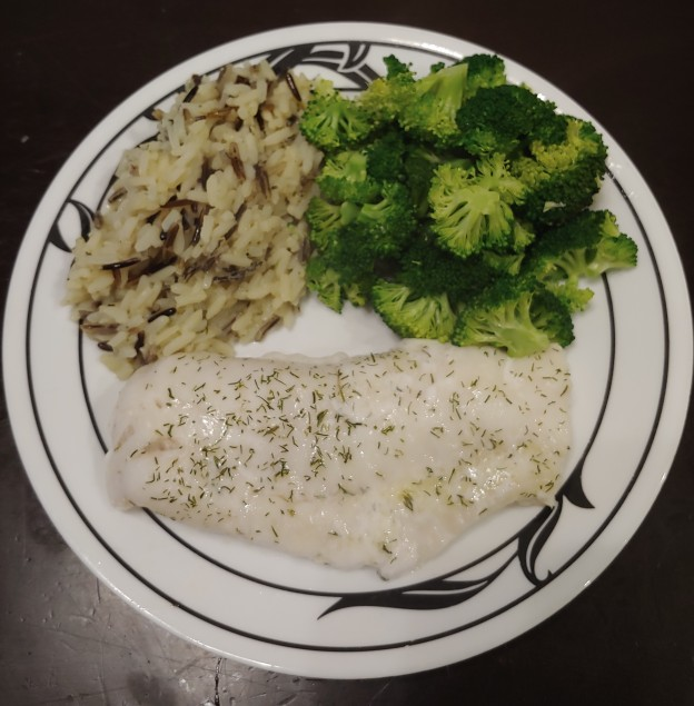Cod with Wild Rice and Broccoli