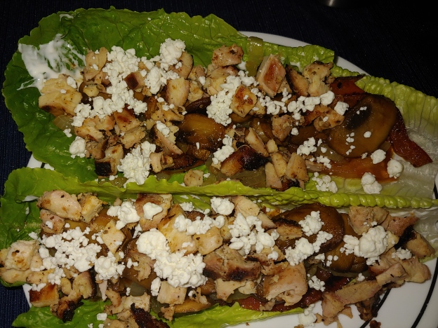 Greek Chicken Lettuce Boats