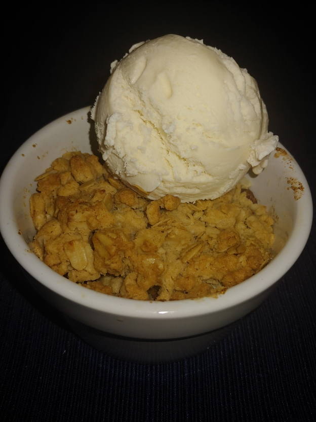 Spiced Apple Crisp with Ice Cream